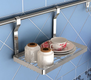 stable Shelf, kitchen Single layer Seasoning rack stainless steel Kitchen and toilet hook up Hardware Utensils Simple and elegant