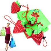 W.Air 5pcs Assuchrted Colours Strawberry Foldable ECO Bags Reusable Shopping Tote Bags
