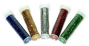 Glitter Shaker Tubes/Pots Assorted Colours Pack of 5 for Children Craft Coloured By Accessories Attic®