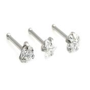 Clear crystal 361L steel earrings studs diamond crystal ring studs zircon jewellery body piercing