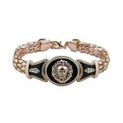 SevenMye 1x Fashion Alloy Vintage Rhinestone Bracelet with Lion Head