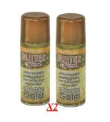 2x Glitter Gold Effect Spray Paint Decorative Creative Art Crafts Frames Hobby