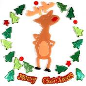 Gel Gems Outlook v2tss06 °C00 Christmas Decorations Reindeer in Nice Glitter Gel Adhesive
