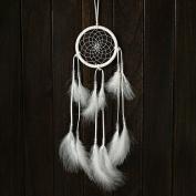 WJkuku® Pure white dreamcatcher bells Indian feather decorations