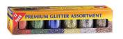 Hygloss 37512 Glitter, Twelve 90ml Bottles, Gold, Silver, Red, Blue, Green, Multicolor