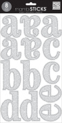 Me and My Big Ideas Large Word Stickers-Cadence Silver Glitter,