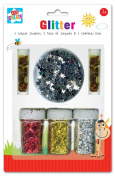 Anker Kids Create/Arts and Crafts Glitter and Confetti Set, Plastic, Assorted Colour, 29.7 x 21 x 2 cm