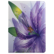 Galaxy Tab E 9.6 Case,Galaxy Tab E 9.6 Case Leather Bling,Galaxy Tab E 9.6 Flip Cover,Ukayfe Galaxy Tab E 24cm Tablet SM-T560 Butterfly Purple Floral Bling Diamond Pu Leather Bookstyle Smart Sleeve Protective Flip Case Cover for Samsung Galaxy Tab ..