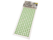 152 Crystal Rhinestone Gems Beads 6 mm Self Adhesive Decorative Coloured Stones, Cards, Available in a Range of Colours green