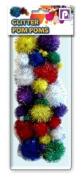 Pennine Glitter Pom Poms, Multi-Colour