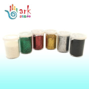 Glitter Shakers for Crafting, Scrapbooking, Card and Decoration Making - Arts & Crafts Supplies (Set of 6 Assorted Colours) By Ark Craft