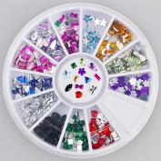 300pc Rhinestone 3D Nail Art - Multi Colour Shapes