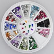 300pc Rhinestone 3D Nail Art - Multi Colour Beans