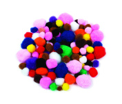 Creation Station Poms Super Value Pack in Assorted Sizes, Assorted Colour