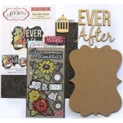 Adorn-It Art Play MDF Ever After Word Plaque with Words Kit