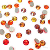 144 2058 / 2088 crystal flat backs No-Hotfix rhinestones ORANGE & COPPER Colours Mix ss16 (3.9mm . from Mychobos (Crystal-Wholesale)**