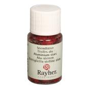 RAYHER - Alu-Sterne, Fläschchen 10 ml, rot