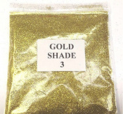 100G GOLD SHADE 3 GLITTER NAIL ART CRAFT FLORISTRY WINE GLASS