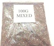 100G MIXED GLITTER NAIL ART CRAFT FLORISTRY WINE GLASS
