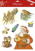 Maildor 30 x 38 cm Stickino Christmas Glitter Tradition, Multi-Colour