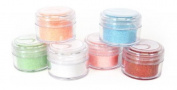 Silhouette Glitter Pots in 6 Pastel Colours - Coral, Strawberry, White, Mint, Peach and Aqua