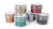 Silhouette Glitter Pots in 6 Bold Colours - Emerald, Graphite, Black, Ruby, Rust and Bronze