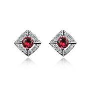 """AmberMa """"Beauty"""" 925 Sterling Silver Earrings,Women's Jewellery, Gifts for Women Girls Friends"""