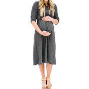 Maternity Dress, Quistal Stripe Elegant Long Sleeve Pregnant Dress, Plus Sizes