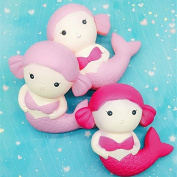 Asdomo Slow Rising Squishy Jumbo Squeeze Kawaii Mermaid Squishies Christmas Soft Toys Xmas Gift for Girls Kids and Babies