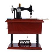 Sunwords Mini Vintage Lockwork Sewing Machine Music Box Kids Toy Home Decor