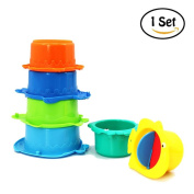 Waterstone Stacking Cups, Fun and Colourful Stacking and Nesting Cups, Random Colour