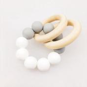 Best for baby Nursing Bracelet Silicone Teething Wooden ring Wooden teething toys Baby Teething Sensory toys Cradle toys