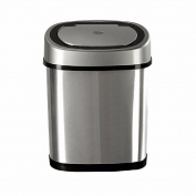 WAWZJ Rubbish Bin Stainless Steel Automatic Induction Free Pedal Trash Can Flip 12L Intelligent Trash,Silvery White