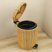 Vines Of Home Living Creative Foot W/Cover Toilet Trash Kitchen Waste Barrel ,01,3L