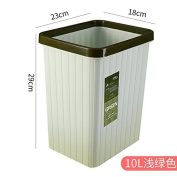 Plastic Home Kitchen Living Room Bathroom Hotel Health And Square Office Basket, 10 Litres Of Light Green