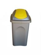 Stefanplast Multipath Little Swing Top Bin, Yellow/Silver, 30 Litre