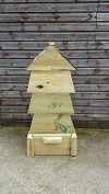 Wooden Beehive Chunky Compost Bin - Removable Lid and Door