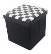 Folding Storage Ottoman Seat, Stool, Toy Storage Box Faux Leather