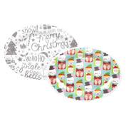 1x Christmas Melamine Serving Platter- Colour Design at Random