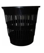 Waste Paper Bin 15 Litres Height 30 cm Slotted Ecoline Black AJ.