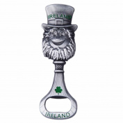 Murphy The Leprechaun Bottle Opener With Green Shamrock And Ireland Text