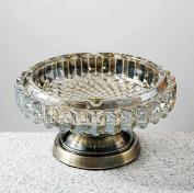 hyl Creative personality crystal glass ashtray bedroom living room multifunctional ashtray
