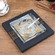 hyl Creative personality crystal glass ashtray bedroom living room multifunctional ashtray