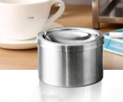 hyl Stainless steel windproof ashtray press style creative fashion personality cigarette cup