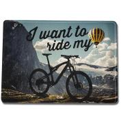 """FunTasstic Chopping Board """"I Want To Ride My Bike"""