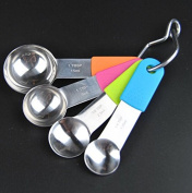 xinyiwei Multi-specification Stainless Steel Silicone Measuring Spoon Insulation Non-slip Baking Scoop Set