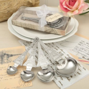 From Paris With Love Collection, Set of Four Designer Heart Shaped Measuring Spoons