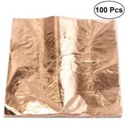 ULTNICE Leaf Sheets Imitation Gold Silver Leaf Foil for Art Crafts Gilding Crafting 100pcs