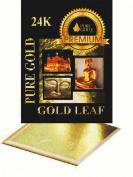 100 x imitation 24K Gold Leaf Sheets. Art Crafts Design Gilding Framing