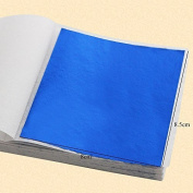 100PCS Blue colour leaf ,shiny Imitation gold leaf, 8X8.5cm ,alloy foil, wall, crafts, furniture, painting, art works gilding
